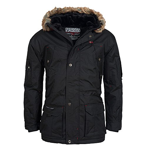 Geographical Norway ATLAS 1 MEN Parka, schwarz