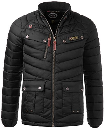 Geographical Norway Herren Steppjacke, schwarz